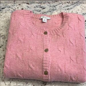 Shetland Wool  Cardigan Sweater Size XL EUC